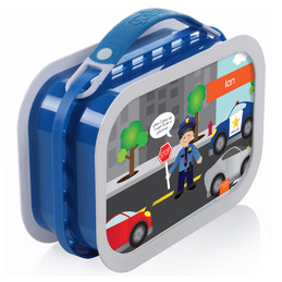 Deluxe Yubo Lunchbox for Boy - Police on duty (Asian)