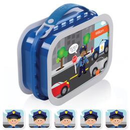 Yubo Lunchbox for Boy - Police on Duty (6 ethnicities)