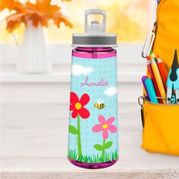 Spring Flowers Sports Water Bottle