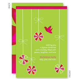 Personalized Christmas Cards | Hanging Ornaments Christmas Cards by Spark & Spark