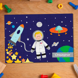Fly to the Moon Personalized Puzzles