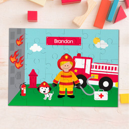 Call a Firefighter Personalized Puzzles