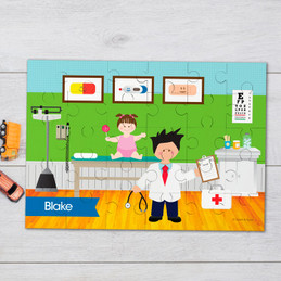 Doctor's Boy Visit Personalized Puzzles