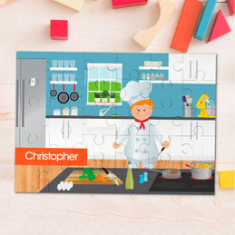 A Chef's Taste Boy Personalized Puzzles