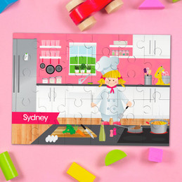 A Chef's Taste Girl Personalized Puzzles by Spark & Spark