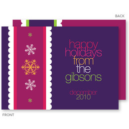 christmas cards personalized | Ribbon Snowflakes Christmas Cards by Spark & Spark