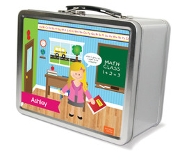 Learning time Metal Lunchbox