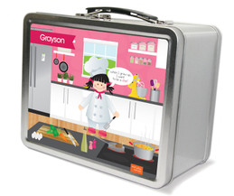 A Girl Chef's taste Metal Lunchbox