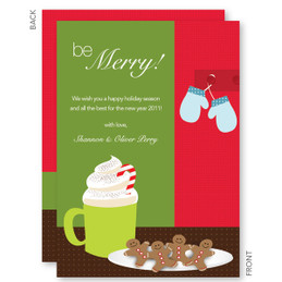 christmas cards online personalized | Cookies And Chocolate Christmas Cards by Spark & Spark
