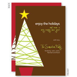holiday cards custom printed | A Modern Xmas Tree Christmas Cards by Spark & Spark