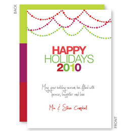 custom christmas cards | Christmas Lights Christmas Cards by Spark & Spark