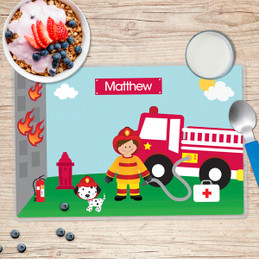 Call a Firefighter Kids Placemat