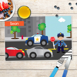Police on duty Kids Placemat