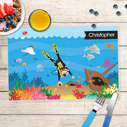 Under the Sea Boy Kids Placemat
