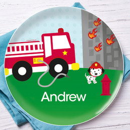 Fighting Fire Kids Plates