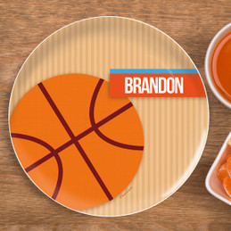 Basketball Fan Boy Kids Plates