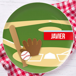 Baseball Fan Personalized Melamine Plates
