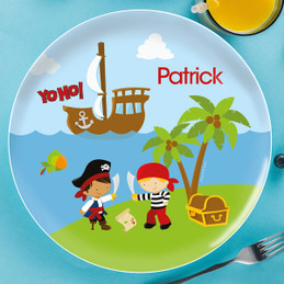 Yo Ho Pirate Personalized Plates For Kids