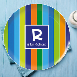 Bold Stripes Personalized Dishes