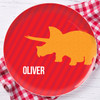 Dino And Me Red Personalized Melamine Plates