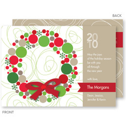 christmas cards personalized | Whimsical Wreath Christmas Cards by Spark & Spark