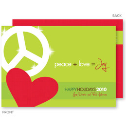 christmas cards online personalized | Peace, Love & Joy Christmas Cards by Spark & Spark