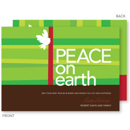 non photo personalized christmas cards | Peace On Earth Christmas Cards by Spark & Spark