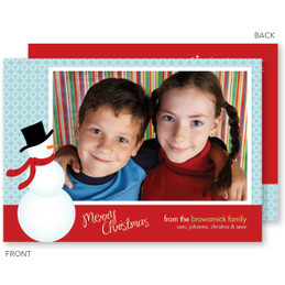 Cute Snowman Christmas Photo Cards