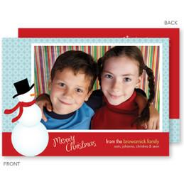 photo christmas cards | Cute Snowman Christmas Photo Cards by Spark & Spark