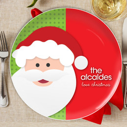 Mr. Santa Claus Personalized Christmas plates