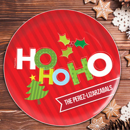 Ho Ho Xmas Here Personalized Christmas plates