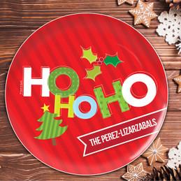 Ho Ho Xmas Here Personalized Christmas plates