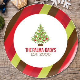 Fancy Xmas Tree Personalized Christmas plates