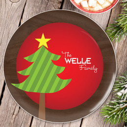 A Big Old Tree Personalized Christmas plates