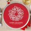 Xmas Elegance Personalized Christmas plates