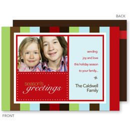 Color Stripes Christmas Photo Cards