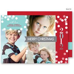 christmas cards personalized | Modern Snowfall Christmas Photo Cards by Spark & Spark