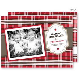 christmas cards online personalized | Red and Brown Scotch Christmas Photo Cards by Spark & Spark