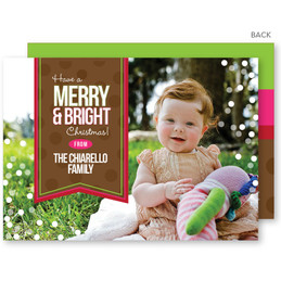 non photo personalized christmas cards | Merry and Bright Christmas Photo Cards by Spark & Spark