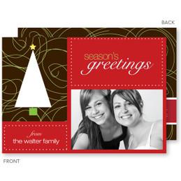 Chic Xmas Tree Christmas Photo Cards