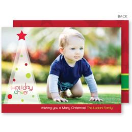 custom holiday photo cards | Holiday Cheer Christmas Photo Cards by Spark & Spark