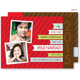 Feliz Navidad Christmas Photo Cards