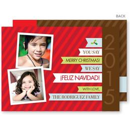 christmas greetings | Feliz Navidad Christmas Photo Cards by Spark & Spark