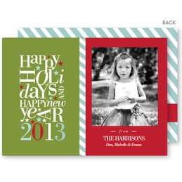 personalised photo christmas cards | Playful Holiday Christmas Photo Cards by Spark & Spark