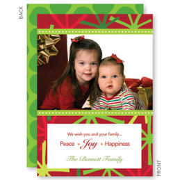 Merry Trendy Stars Christmas Photo Cards