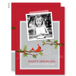 personalized christmas cards no photo | Sweet Xmas Branches Christmas Photo Cards by Spark & Spark