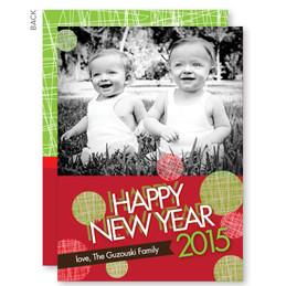 Joyful Dots Christmas Photo Cards