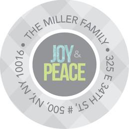 Soulfoul Swirls Christmas Address Labels