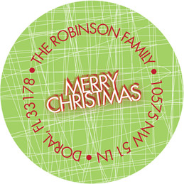 Big and Merry Christmas Address Labels