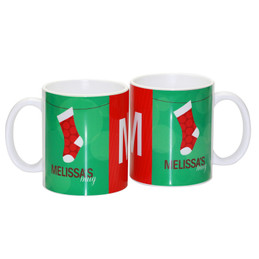 His Fun Xmas stockings Ceramic Mug